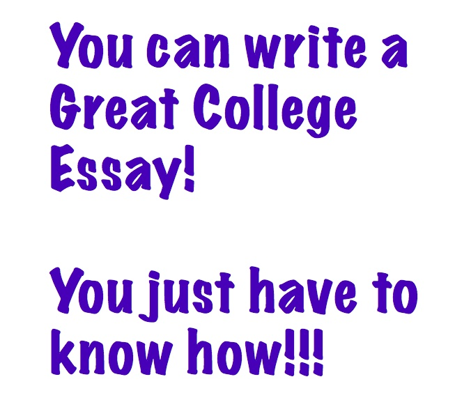 College application essay writing help