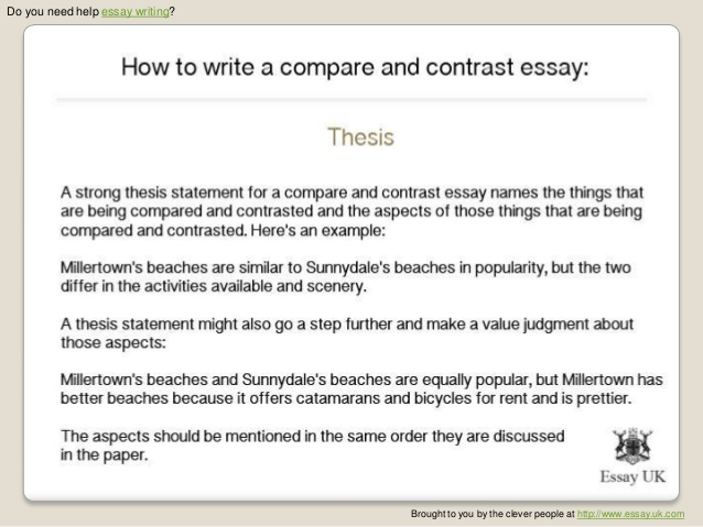 Write Comparison Essay
