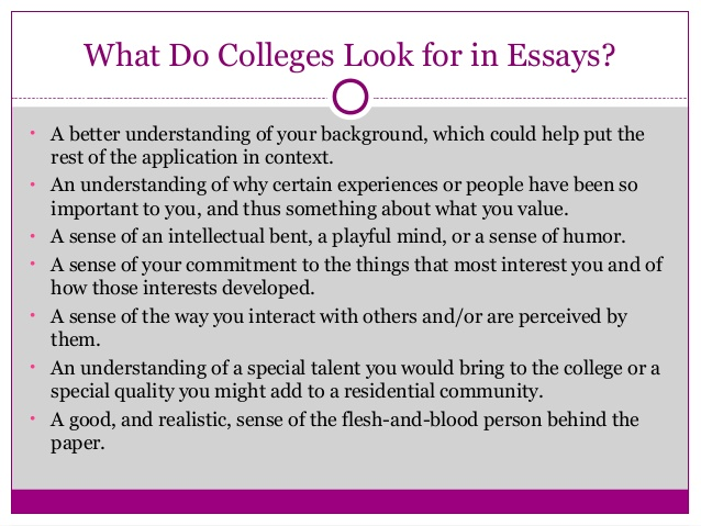 Writing a good college essay
